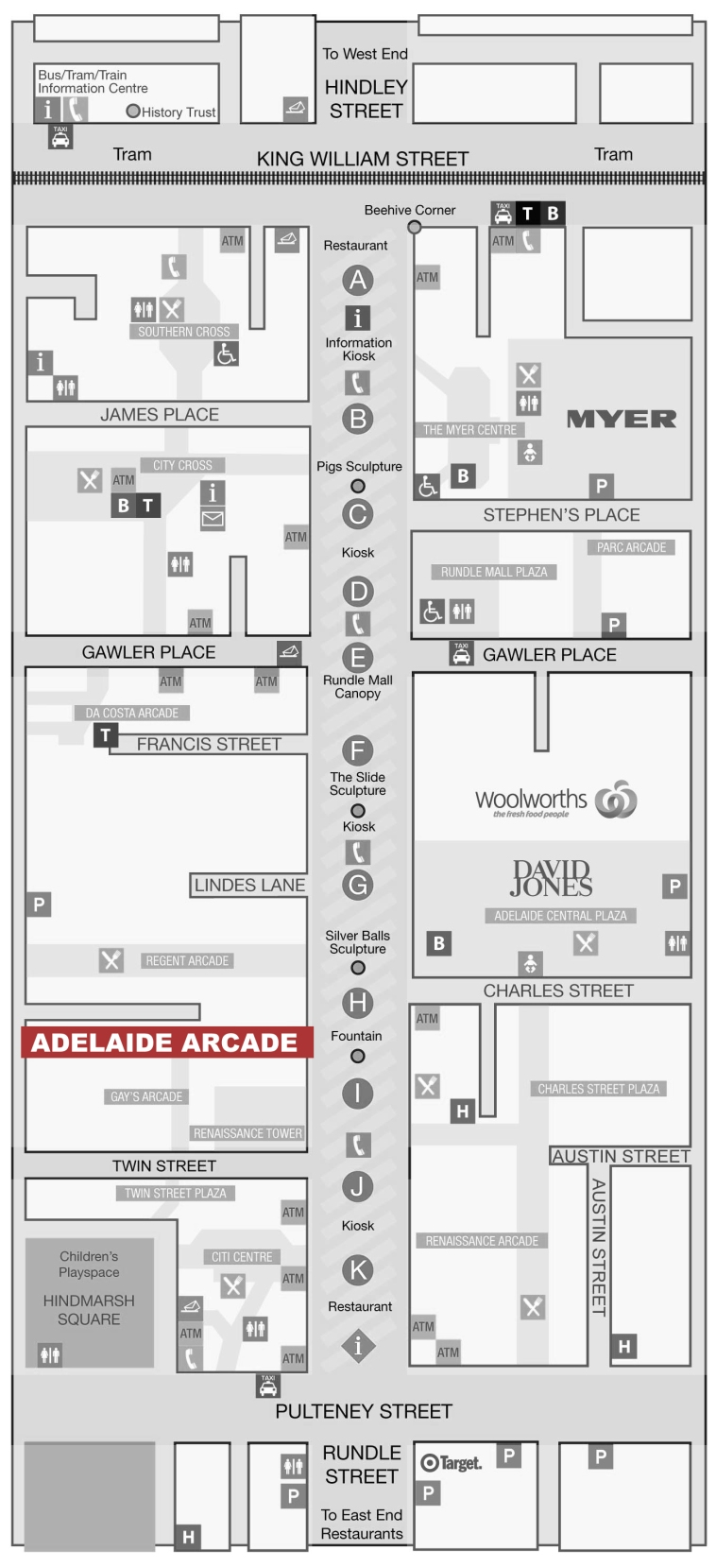 Rundle Mall Map for Website